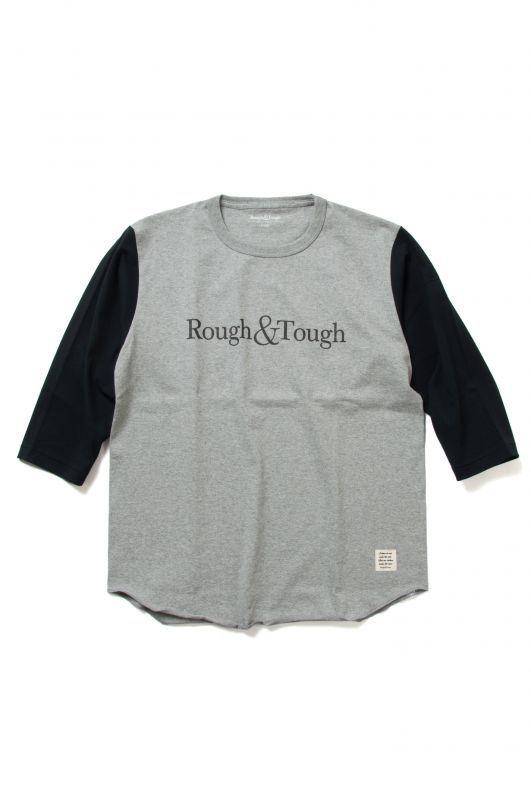 画像1: 【Rough&Tough】Logo Baseball Raglan Tee