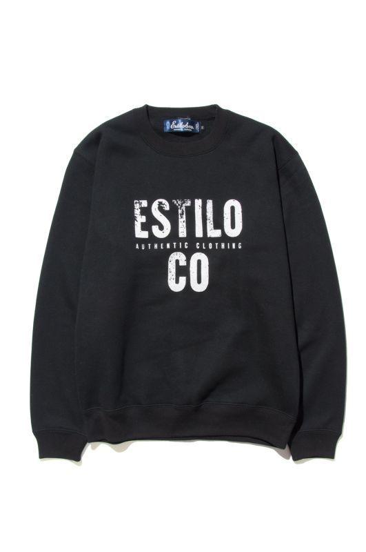 画像1: 【Estilo&co.】 GRUNGE LOGO CREW NECK SWEAT