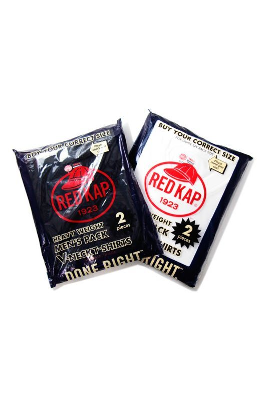 画像1: 【REDKAP】V-NECK SINGLE JERSEY 2 PACK Tee