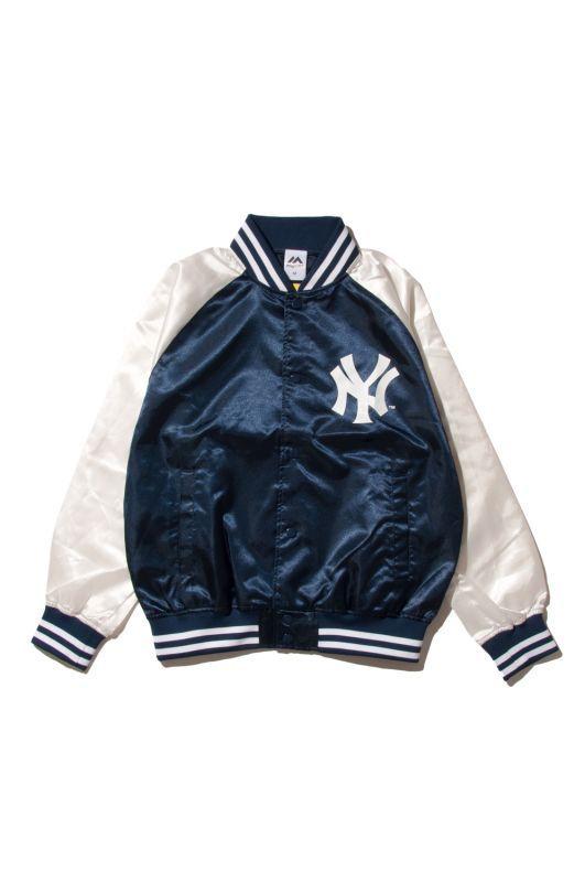 画像1: 【Majestic Athletic】Yankees Right Satin JACKET