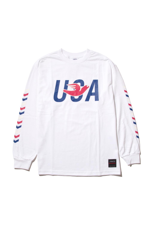 画像2: 【JT&CO】USA L/S TEE