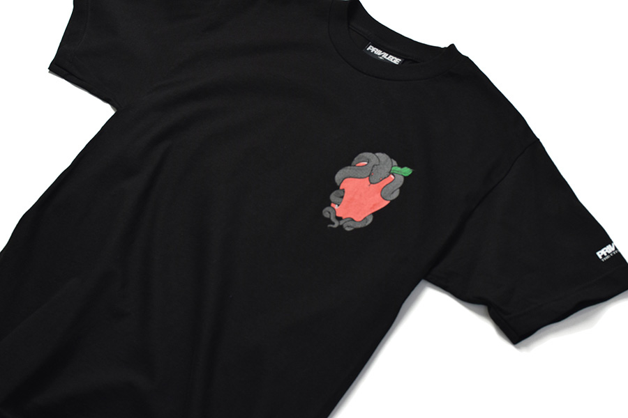画像2: 【PRIVILEGE】SNAKE & APPLE TEE