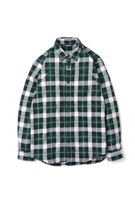 画像2: 【INTERBREED】Plaid Round Yoke Shirt