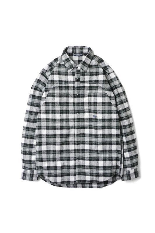 画像1: 【INTERBREED】Plaid Round Yoke Shirt