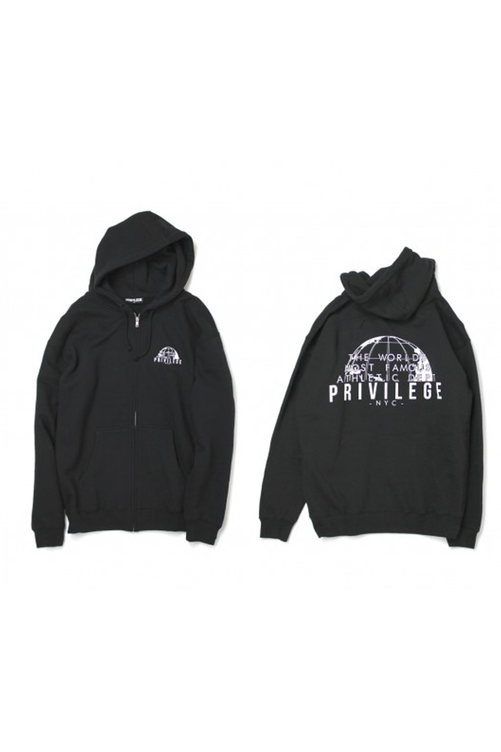 画像2: 【PRIVILEGE】WORLD FAMOUS ZIP UP HOODIE