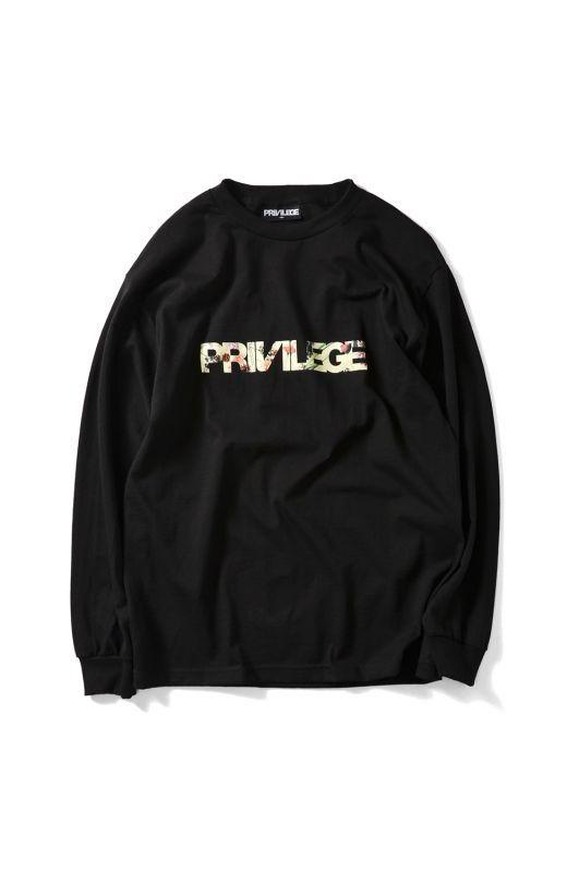 画像1: 【PRIVILEGE】PURPLE RAIN CORE LOGO L/S TEE