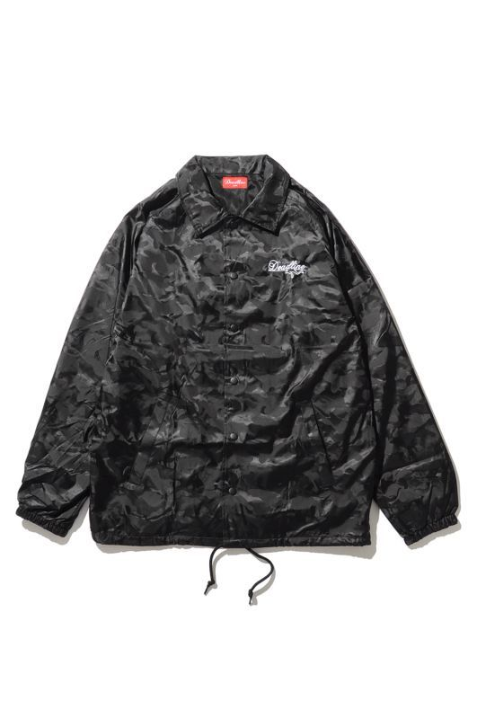 画像1: 【DEADLINE】Script Logo Embroidered Camo Coach Jacket