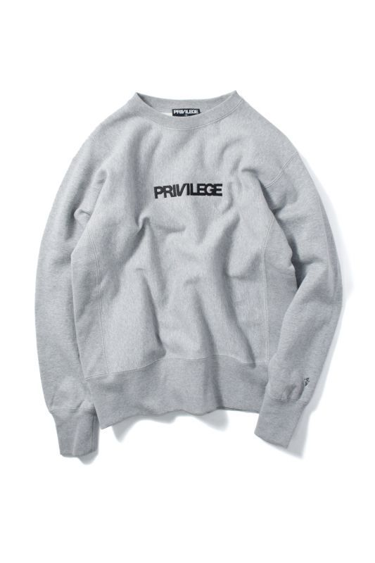 画像1: 【PRIVILEGE】PRIVILEGE CORE LOGO CREWNECK SWEAT