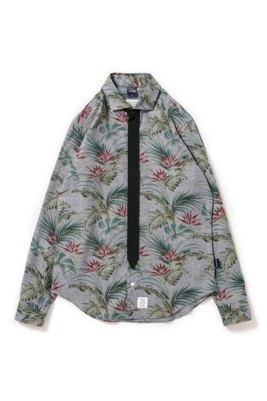 画像1: 【APPLEBUM】Chambray Flower Necktie-Gimmick Shirt