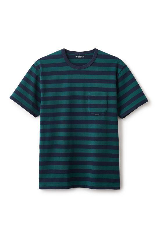 画像1: 【INTERBREED】Basic Border SS Tee