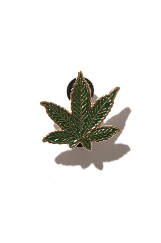 画像1: 【DEADLINE】Weed Leaf Enamel Pin