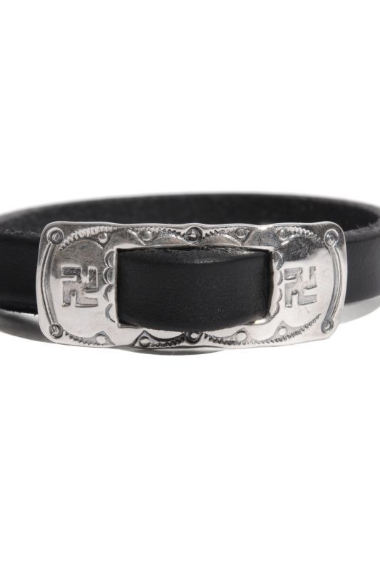 画像2: 【LARRY SMITH】BUCKLE LEATHER BRACELET