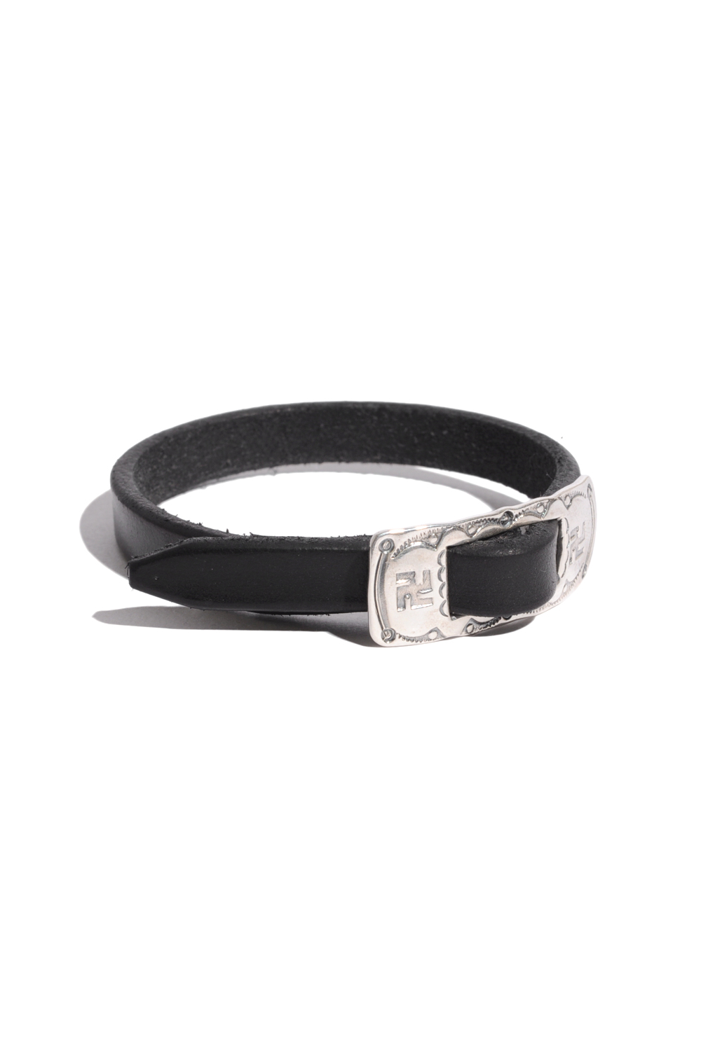 画像1: 【LARRY SMITH】BUCKLE LEATHER BRACELET