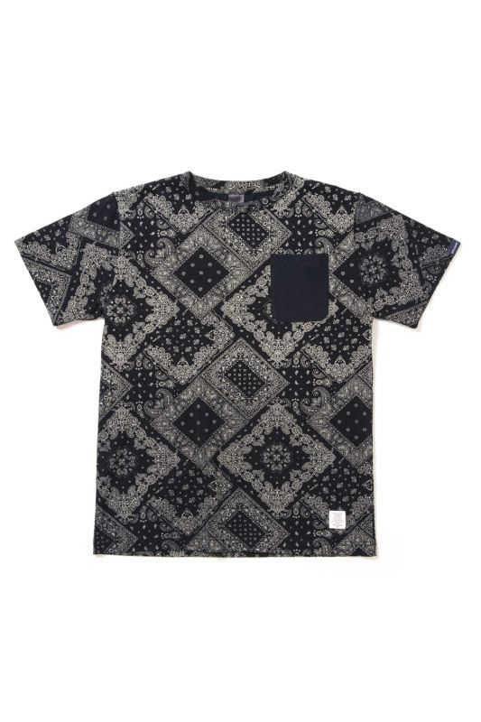 画像1: 【APPLEBUM】Indigo Paisley Pocket T-shirt