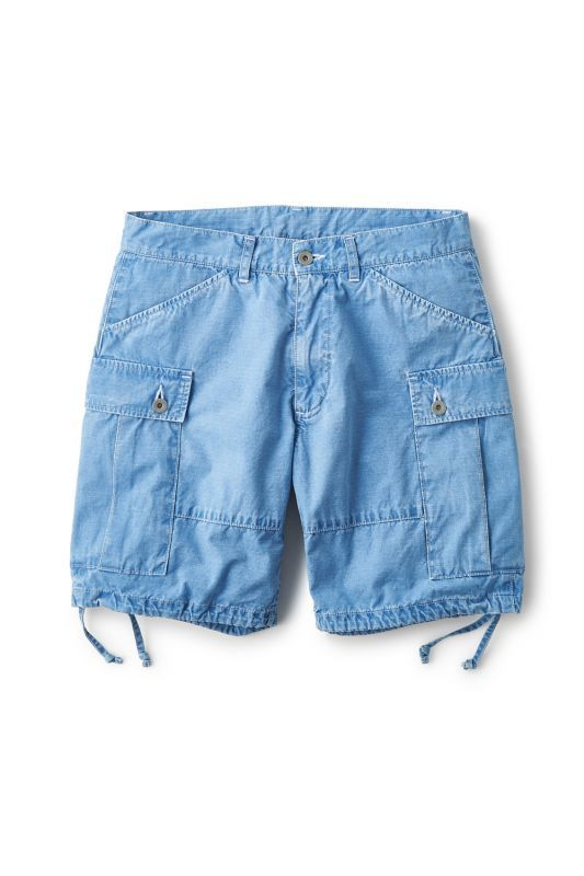 画像1: 【INTERBREED】Ripstop Indigo Shorts