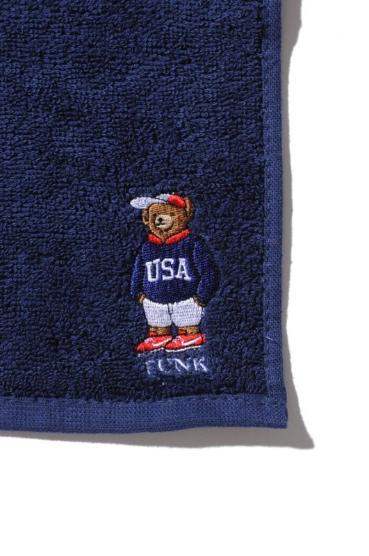 画像3: 【INTERBREED】USA Bear Embroidered Hand Towel