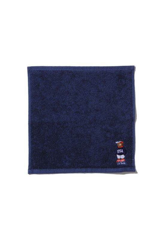 画像2: 【INTERBREED】USA Bear Embroidered Hand Towel
