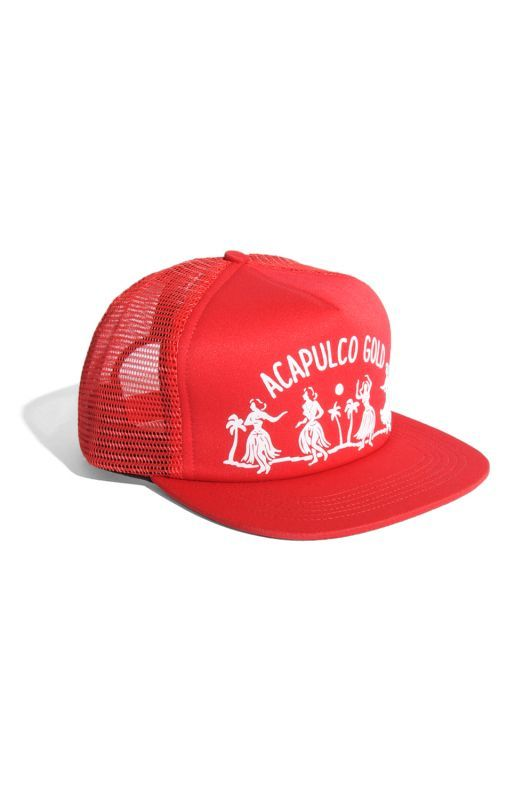 画像2: 【ACAPULCO GOLD】HULA GIRL TRUCKER HAT