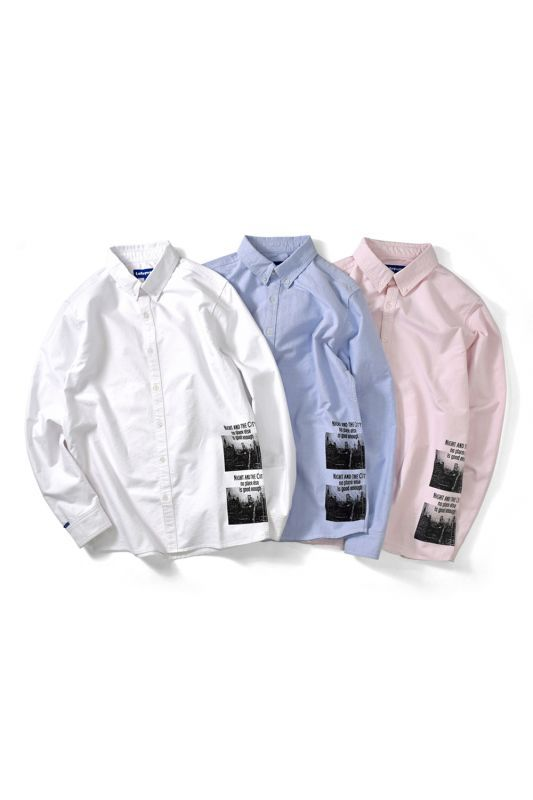 画像1: 【LAFAYETTE】NIGHT AND THE C.BD OXFORD SHIRT