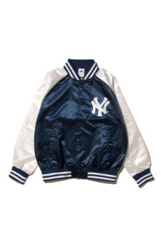 画像1: 【Majestic Athletic】Yankees Right Satin JACKET (1)