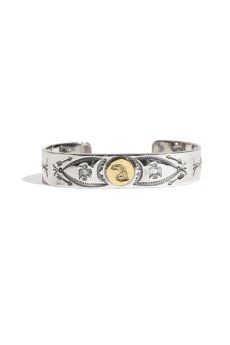 画像2: LARRY SMITH / 18K EAGLE FACE STAMPED BRACELET (2)