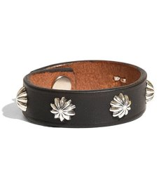 画像1: LARRY SMITH / 5 SHELL CONCHOS LEATHER BRACELET (1)