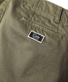 画像5: CALEE / West point wide chino pants -OLIVE- (5)