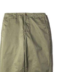 画像2: CALEE / West point wide chino pants -OLIVE- (2)