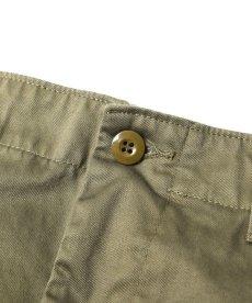 画像3: CALEE / West point wide chino pants -OLIVE- (3)
