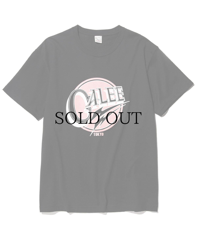 画像1: CALEE / Calee logo t-shirt -BLACK- (1)