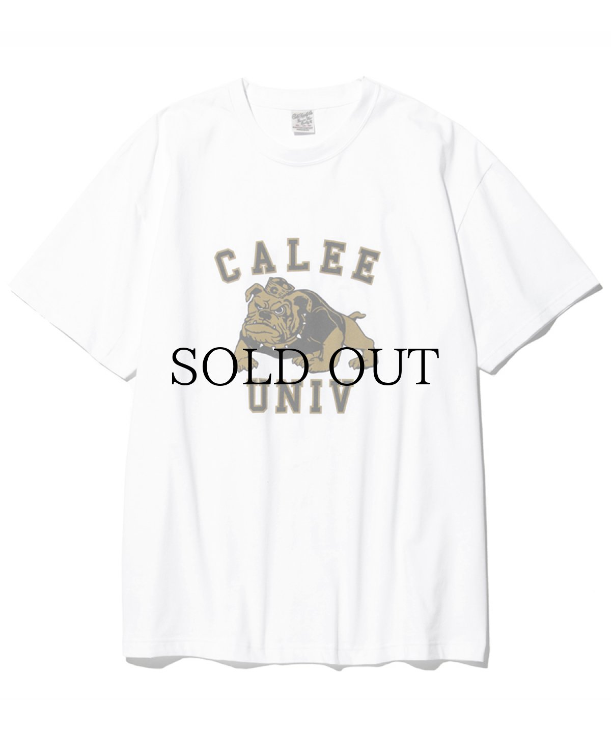 画像1: CALEE / Bull dog t-shirt -WHITE- (1)