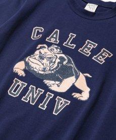 画像2: CALEE / Bull dog t-shirt -NAVY- (2)