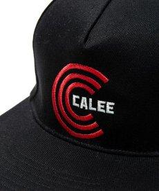 画像3: CALEE / Twill embroidery cap -BLACK- (3)