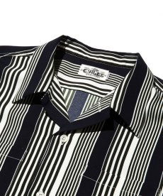 画像3: CALEE / S/S stripe shirt -NAVY- (3)