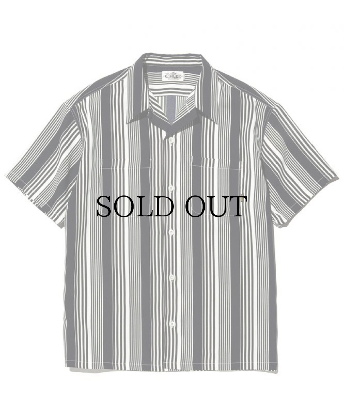 画像1: CALEE / S/S stripe shirt -NAVY- (1)