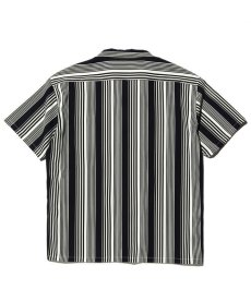 画像2: CALEE / S/S stripe shirt -NAVY- (2)