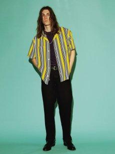画像2: CALEE / S/S stripe shirt -YELLOW- (2)