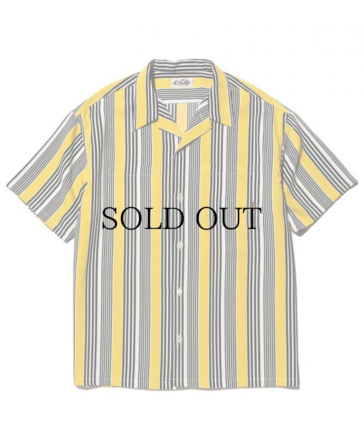 画像1: CALEE / S/S stripe shirt -YELLOW- (1)