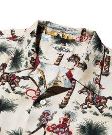 画像3: CALEE / Allover western patten S/S shirt -WHITE- (3)