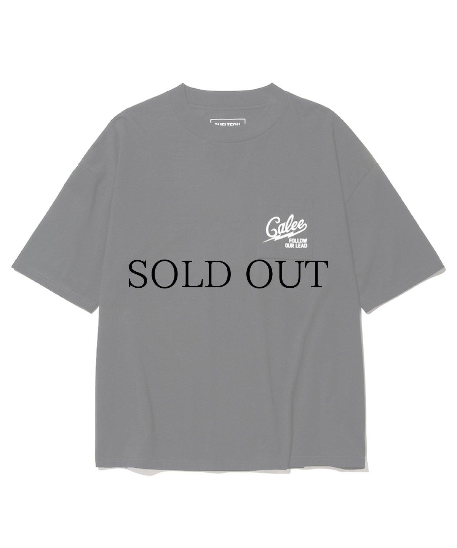 画像1: CALEE / ×SHELTECH Drop shoulder pocket t-shirt -BLACK- (1)