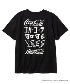 画像1: CALEE / COCA-COLA collaboration international logo t-shirt -BLACK- (1)