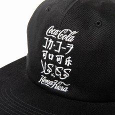 画像3: CALEE / COCA-COLA collaboration international logo cap -BLACK- (3)