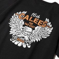 画像4: CALEE / Binder neck eagle pocket t-shirt -BLACK- (4)
