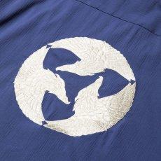 画像2: CALEE / Japan traditional embroidery S/S shirt -BLUE- (2)