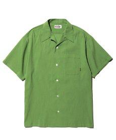 画像1: CALEE / Japan traditional embroidery S/S shirt -Lt GREEN- (1)