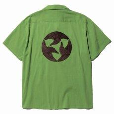 画像2: CALEE / Japan traditional embroidery S/S shirt -Lt GREEN- (2)