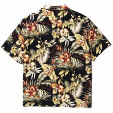 画像2: CALEE / Hawaiian S/S shirt -BLACK- (2)