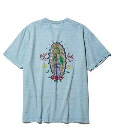 画像1: CALEE / Binder neck Maria t-shirt -Lt BLUE- (1)