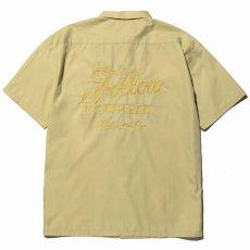 画像2: CALEE / T/C Broad S/S work shirt -Lt Yellow- (2)