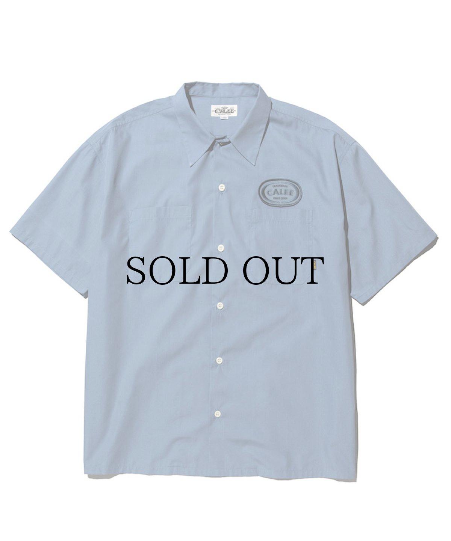 画像1: CALEE / T/C Broad S/S work shirt -Lt Blue- (1)